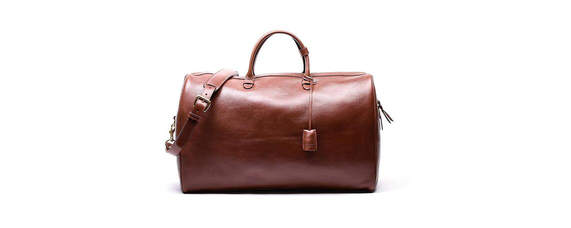 Lotuff Leather No. 12 Weekender Bag in chestnut