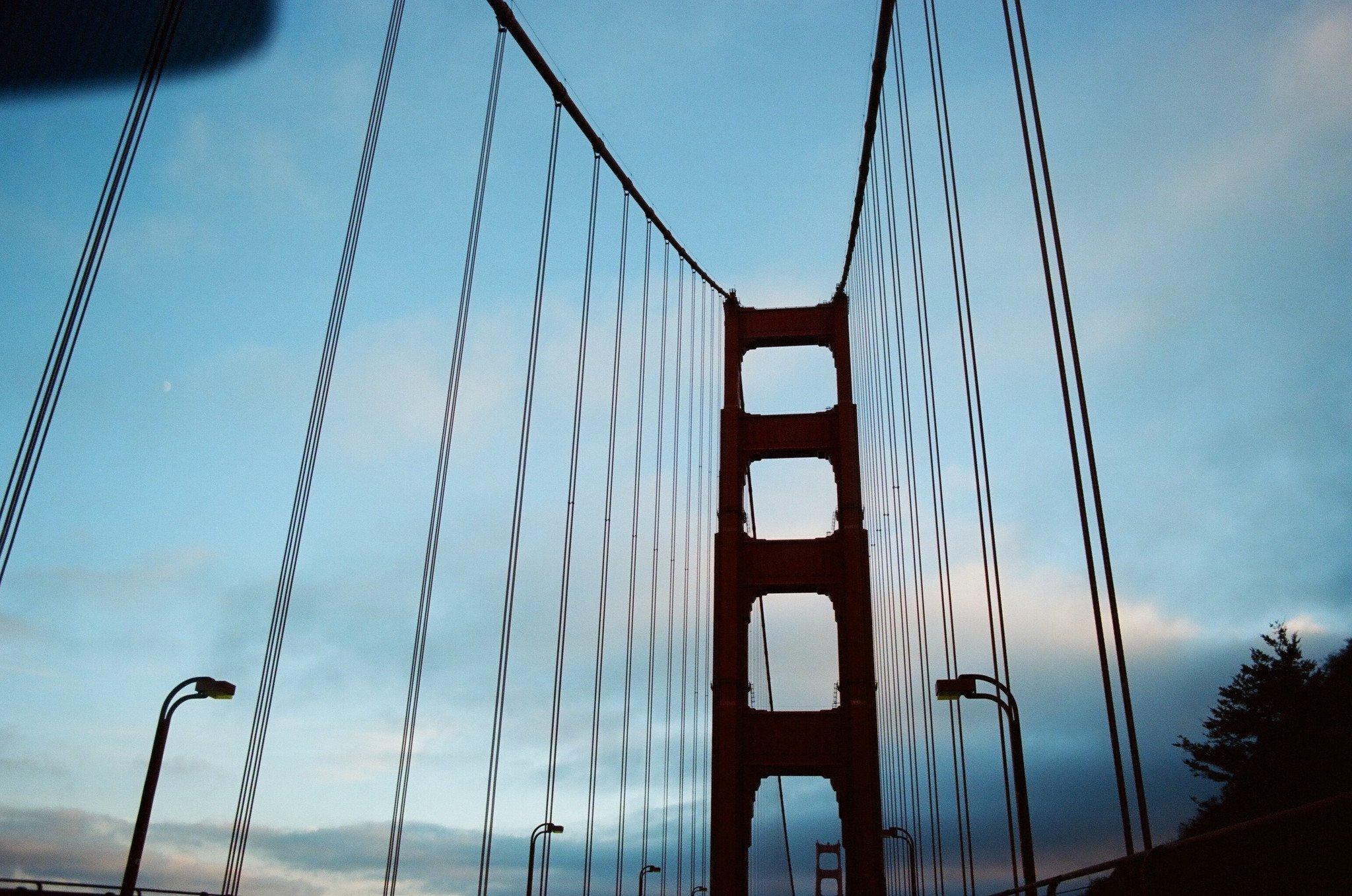 Golden Gate Bridge views in San Francisco, California