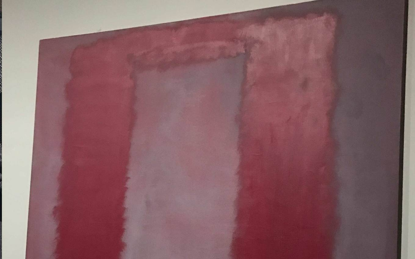 A Rothko at the Tate Modern museum in London, England