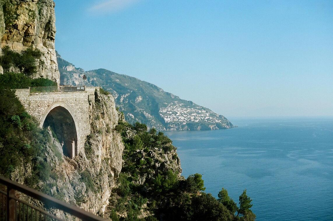 Cliffs of the Amalfi Coast in Italy