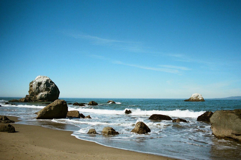 Beach and coastline views in San Francisco, California