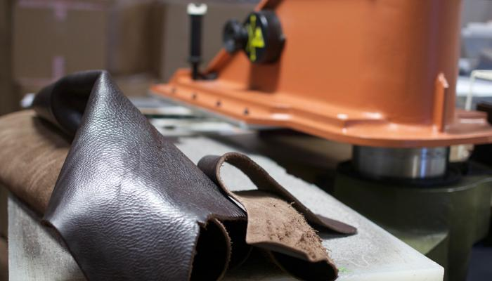 Cutting the Lotuff Leather Working Tote