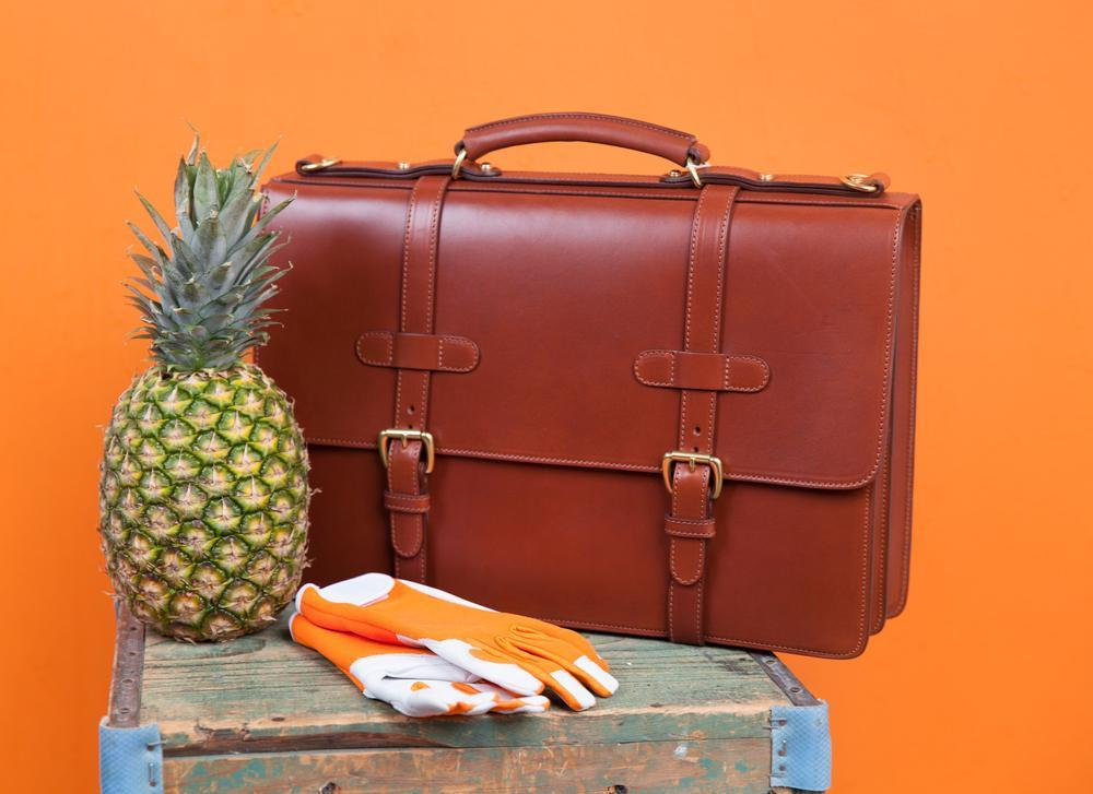 Lotuff Leather Bridle English Briefcase