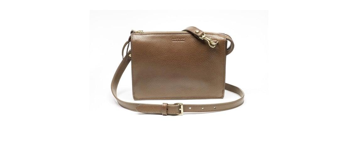 Lotuff Leather Tripp Handbag in Clay