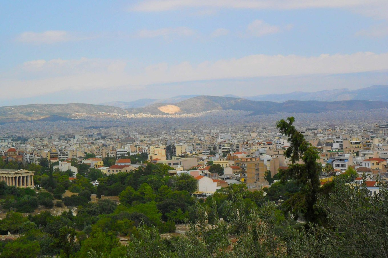 City views from the Acropolis in Athens, Greece