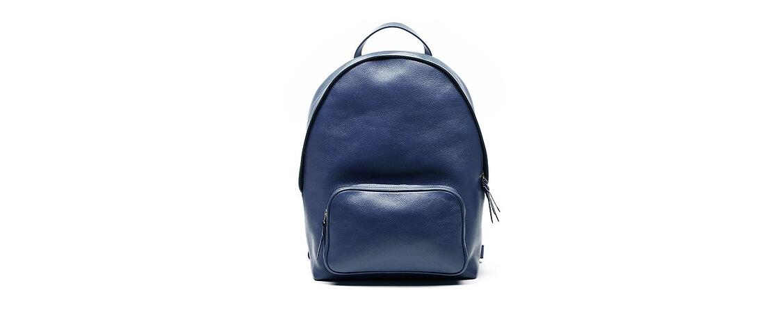 Lotuff Leather Zipper Backpack in indigo