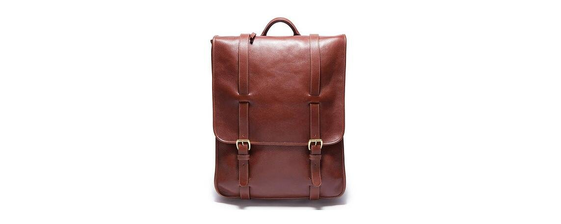 Lotuff Leather Backpack in chestnut