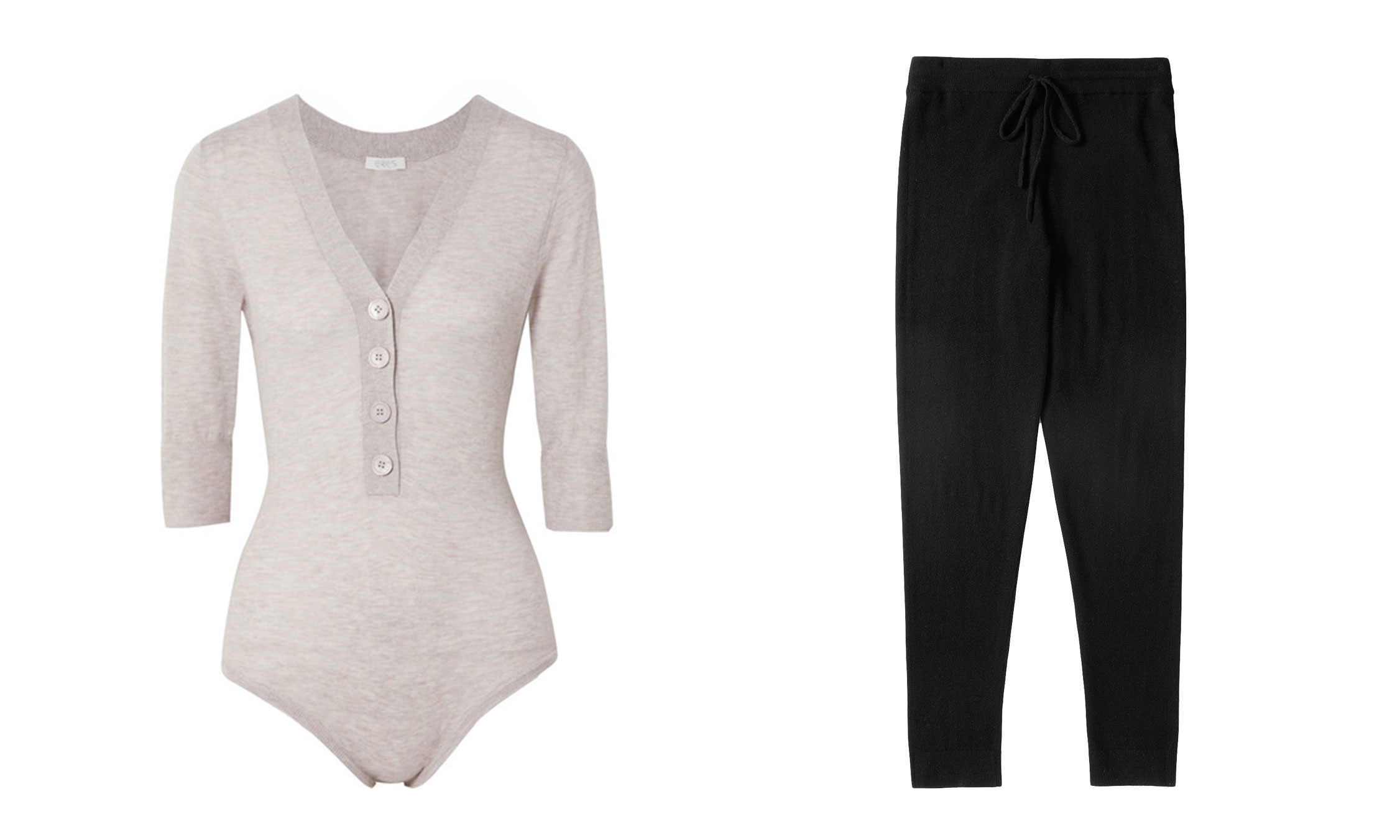 Eres Rituel Cashmere Bodysuit and Everlane Cashmere Sweatpant