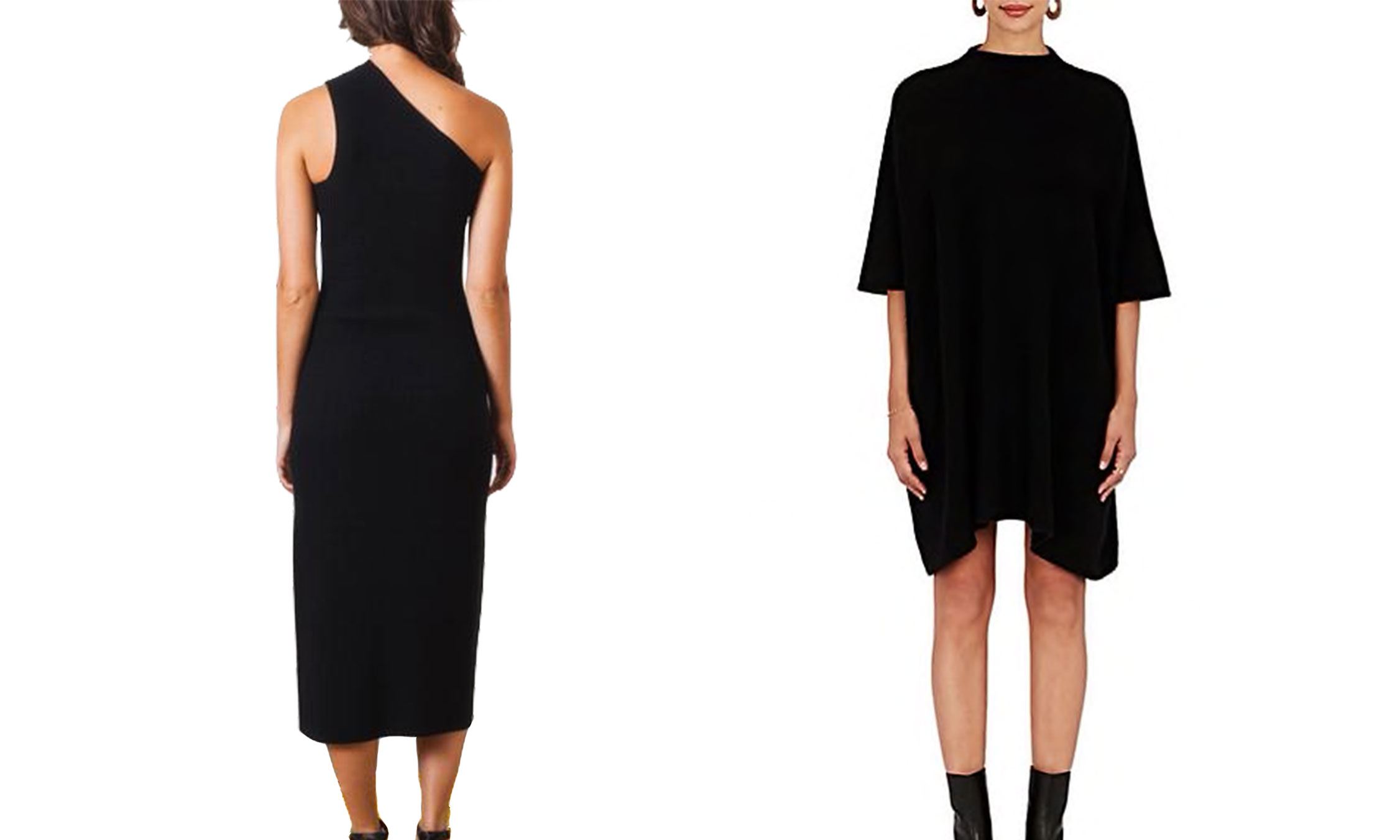 Shaina Mote Onyx Sling Dress and The Elder Statesman Guatemala Cashmere Sweaterdress