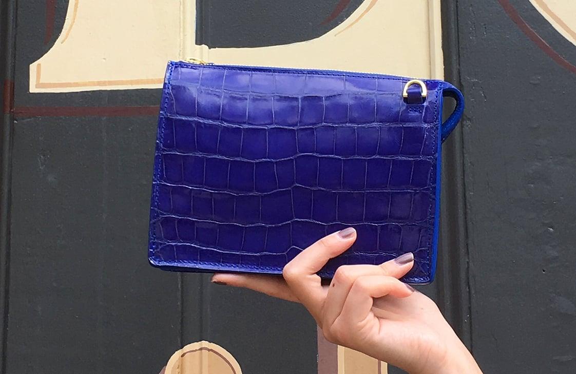 Finished Lotuff American Alligator Tripp handbag!