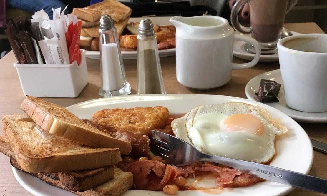 Traditional Irish breakfast at Joanne's café in Gorey, Ireland