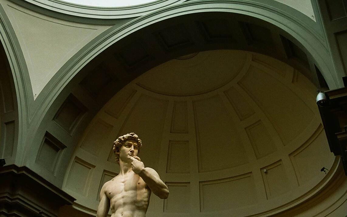 Michelangelo's David in Florence, Italy