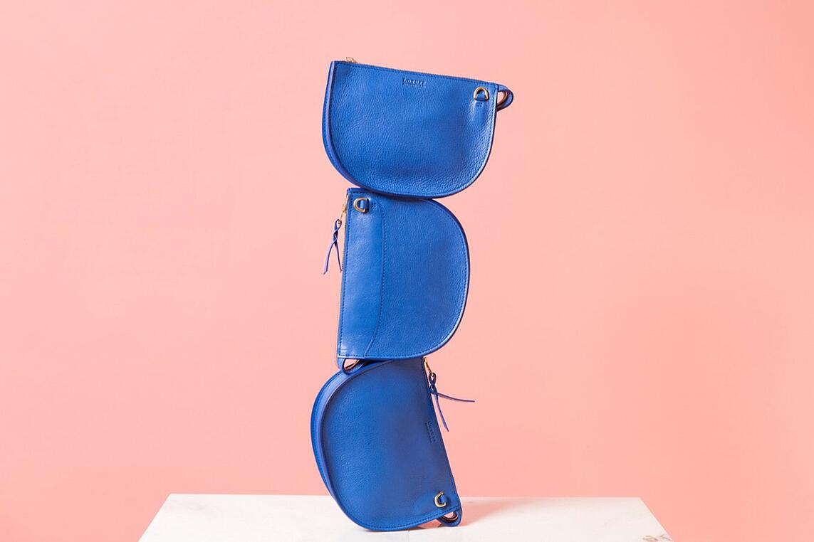 Lotuff Leather Mini Sling inspired by International Klein Blue