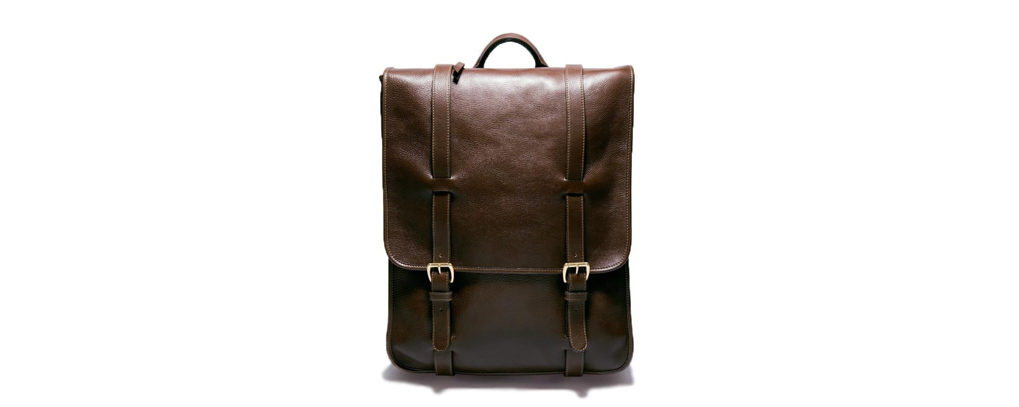 Lotuff Leather backpack in chocolate