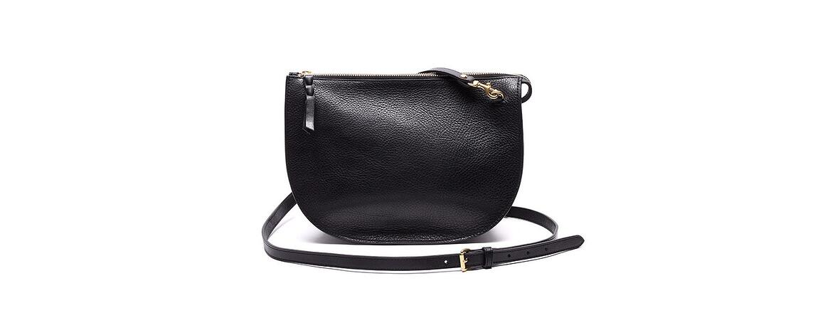 Lotuff Leather Luna handbag in black