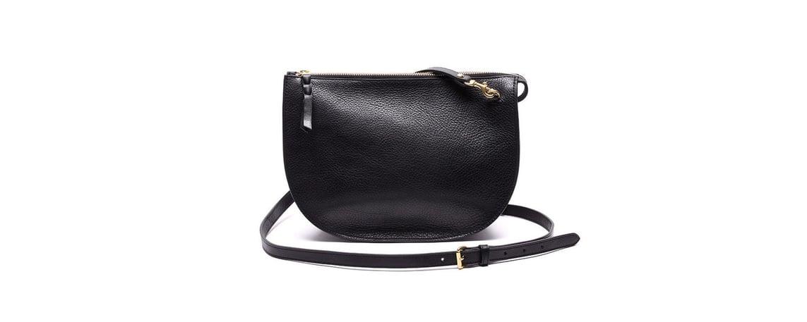Lotuff Leather Luna handbag in black
