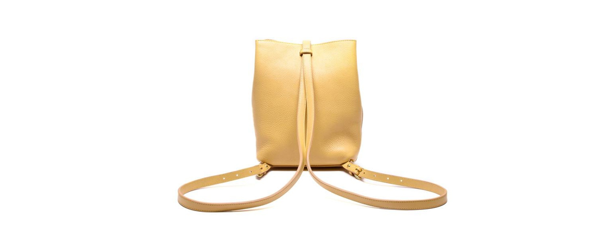 Lotuff Leather Mini Sling backpack in ochre