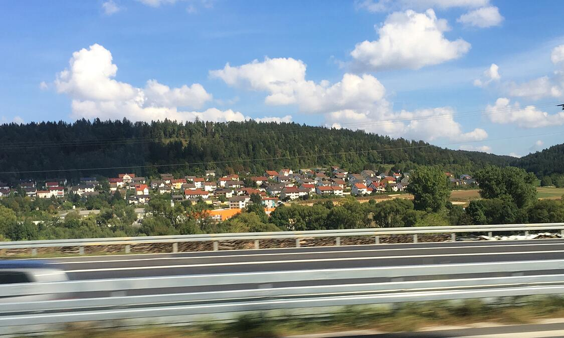Train view of the German countryside