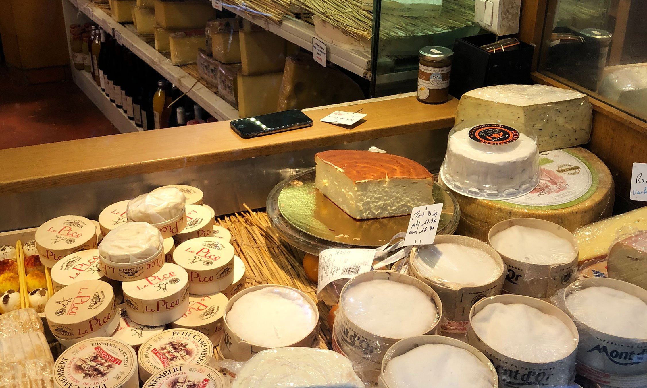 Parisian cheese market