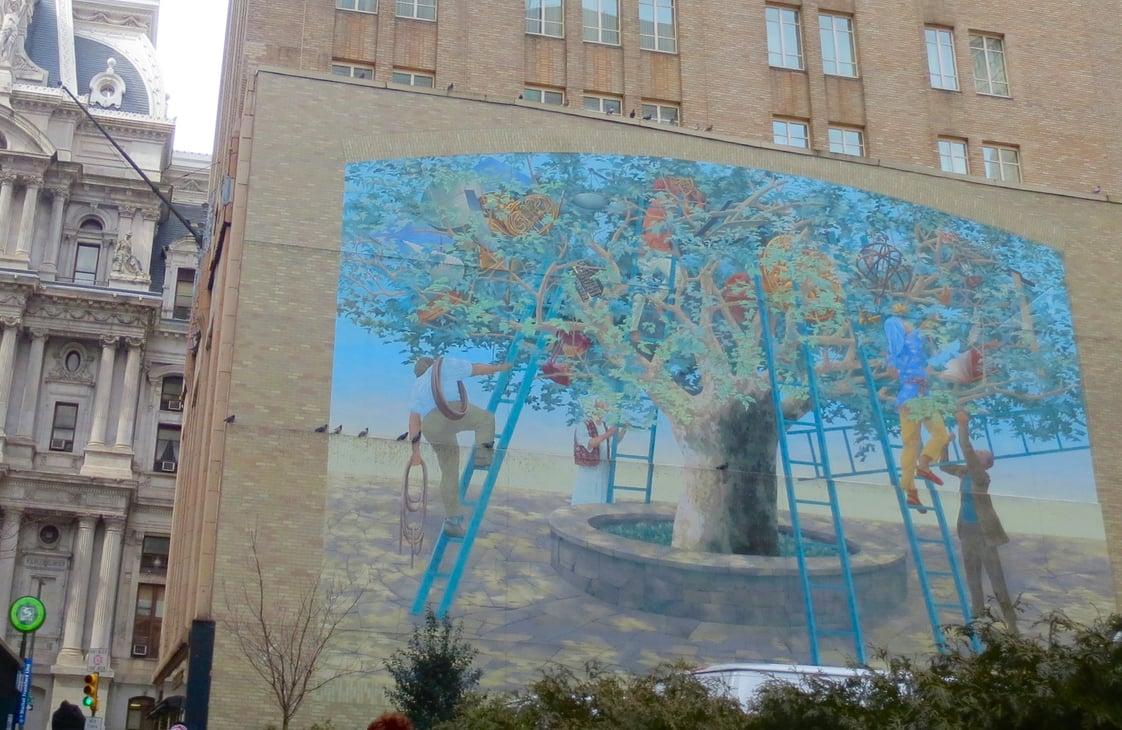 Philadelphia tree mural