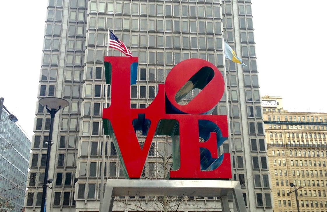 LOVE by Robert Indiana in Philadelphia