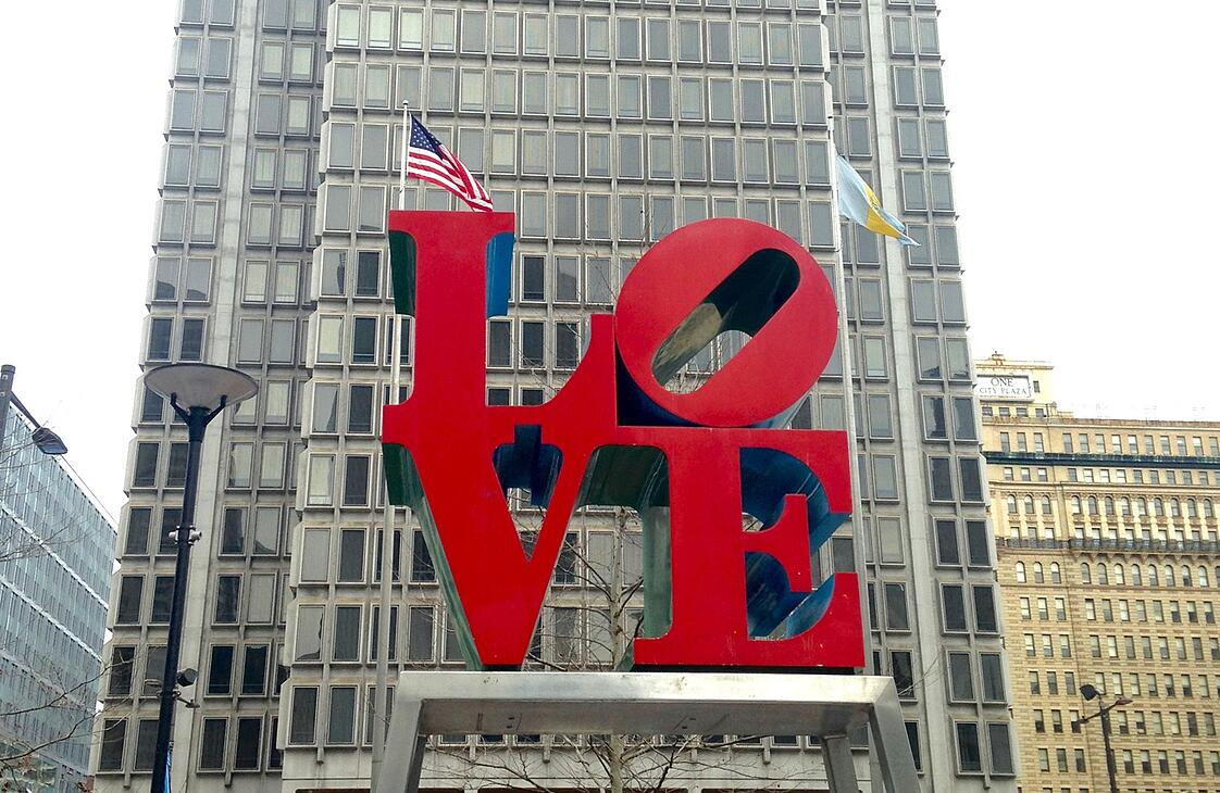 LOVE by Robert Indiana in Philadelphia