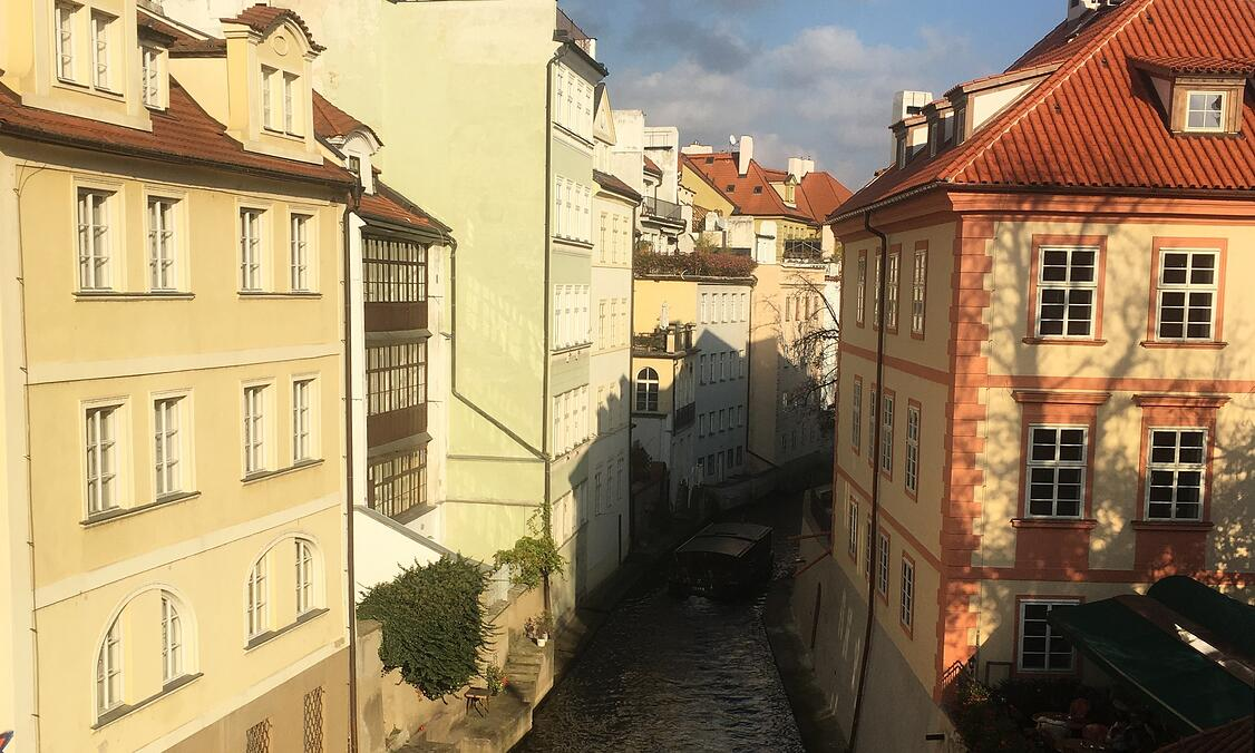 View of the canal in Prague, Czech Republic