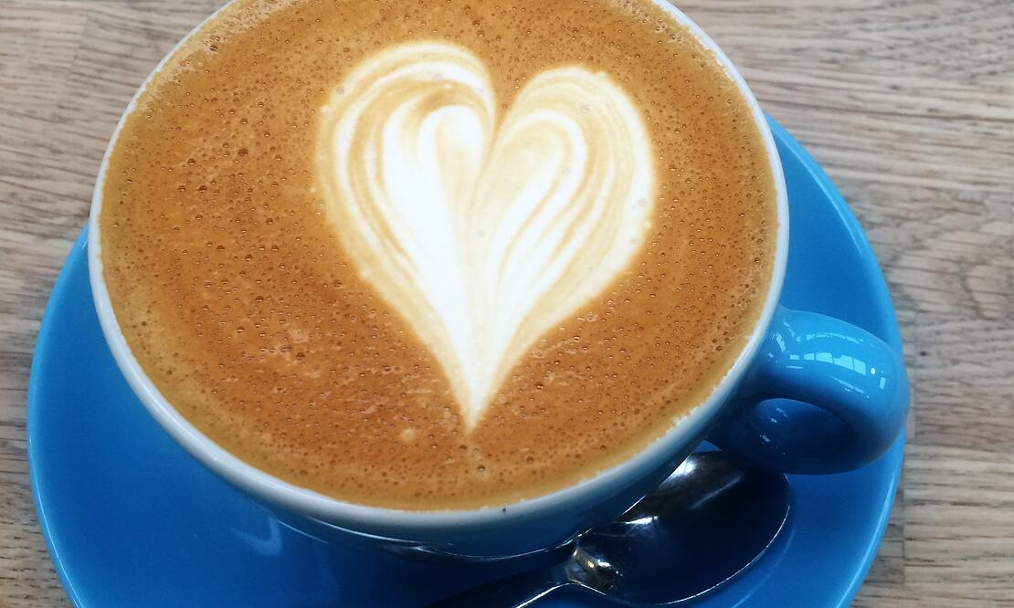 Latte art at TwoFifty Square café in Rathmines, Ireland