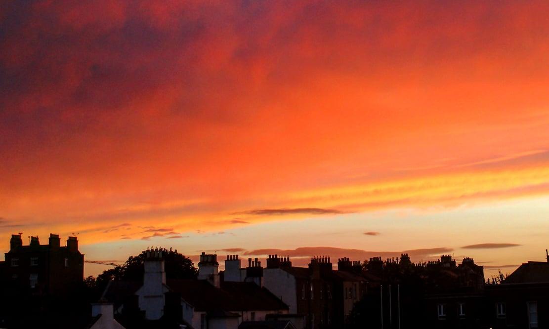 Sunset over Rathmines, Ireland
