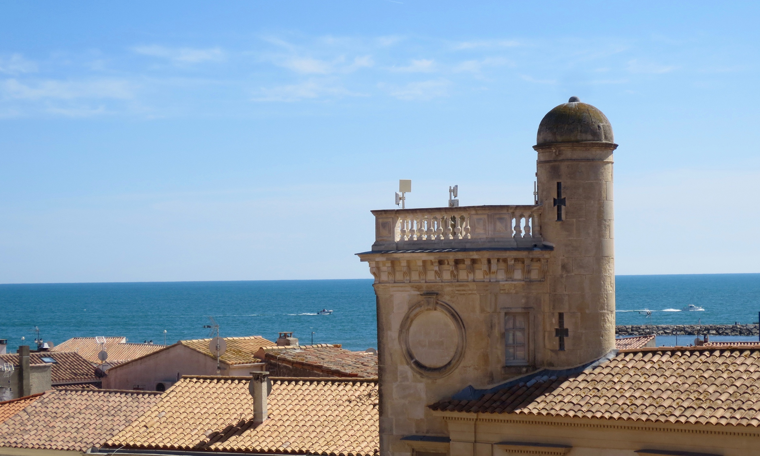 Rooftop views in Saintes-Maries-de-la-Mer, France