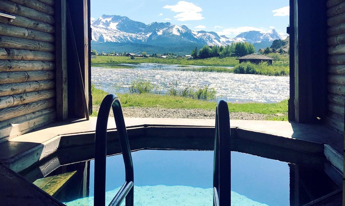 Natural hot springs in Sun Valley, Idaho