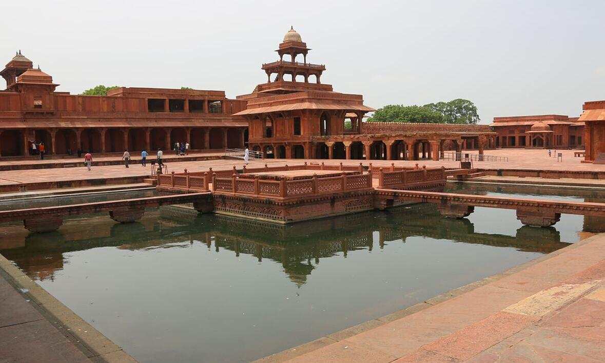 View of the Agra fort
