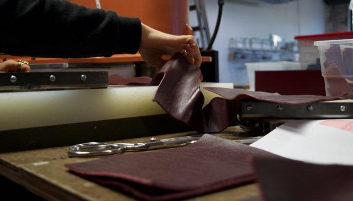 Cutting the Tripp Handbag