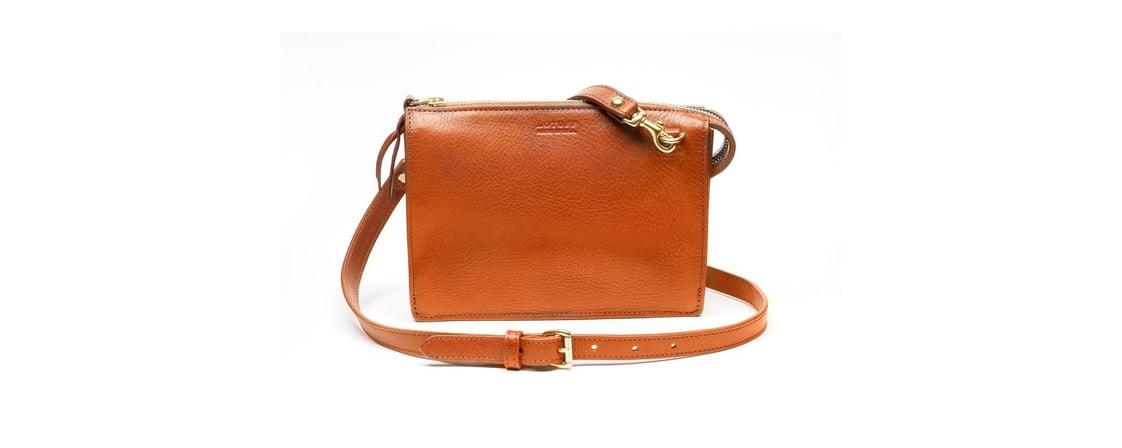 Lotuff Leather Tripp handbag in orange