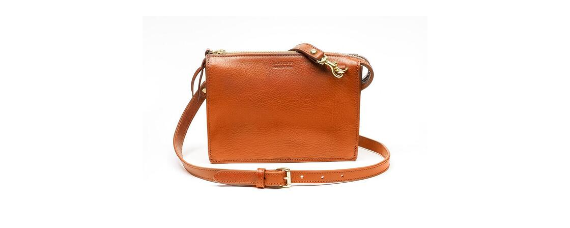Lotuff Leather Tripp handbag in orange