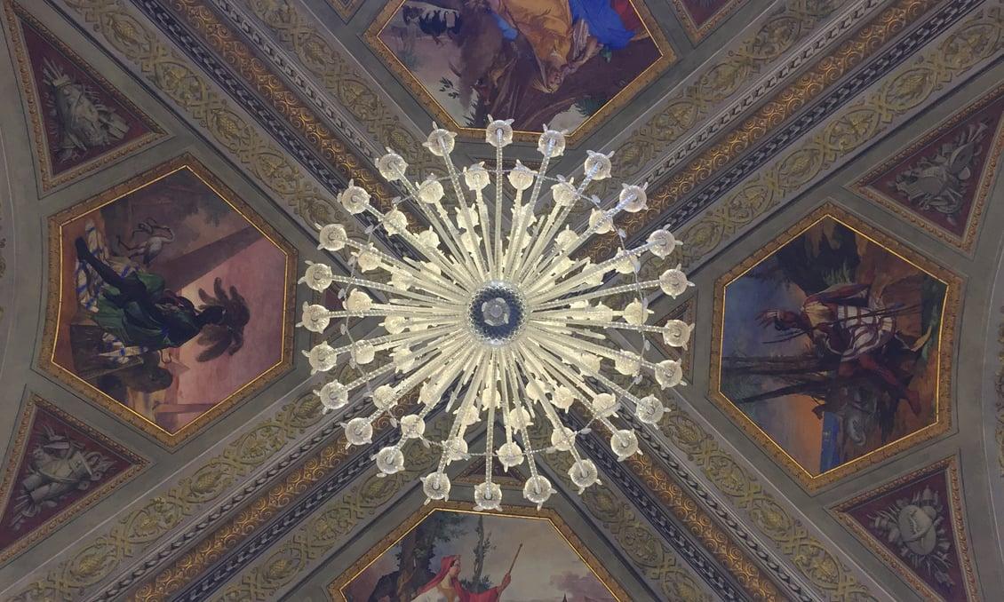 A Venetian chandelier