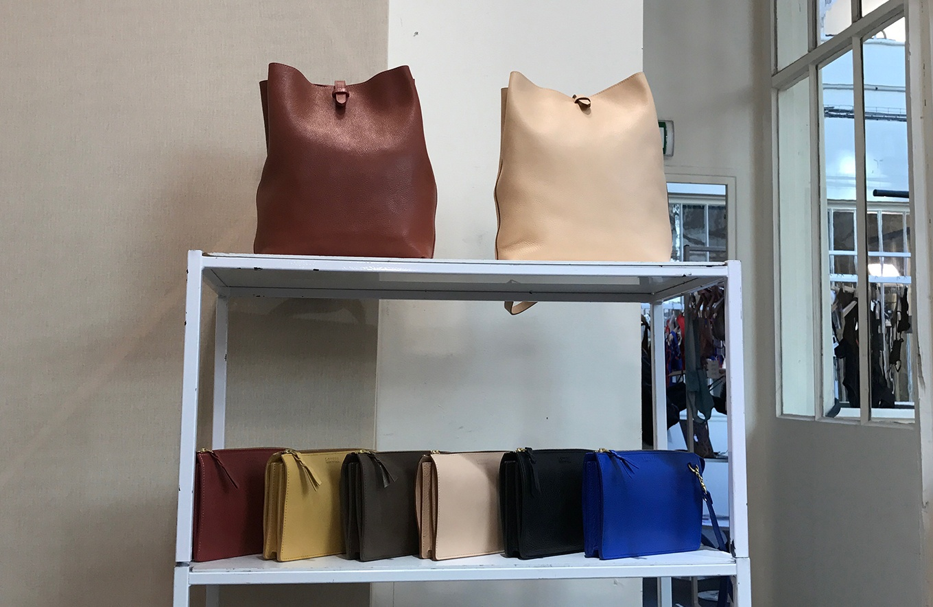 Lotuff bags waiting to be shown at WOMAN Paris