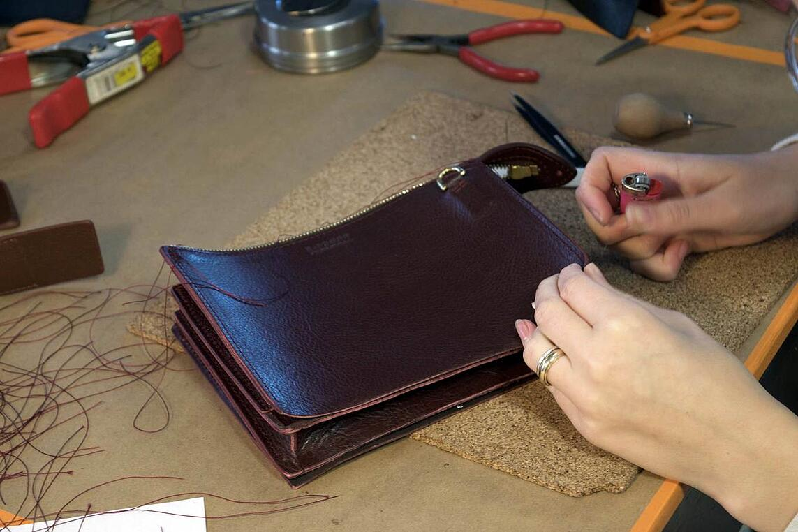 Turning and Burning the Tripp Handbag